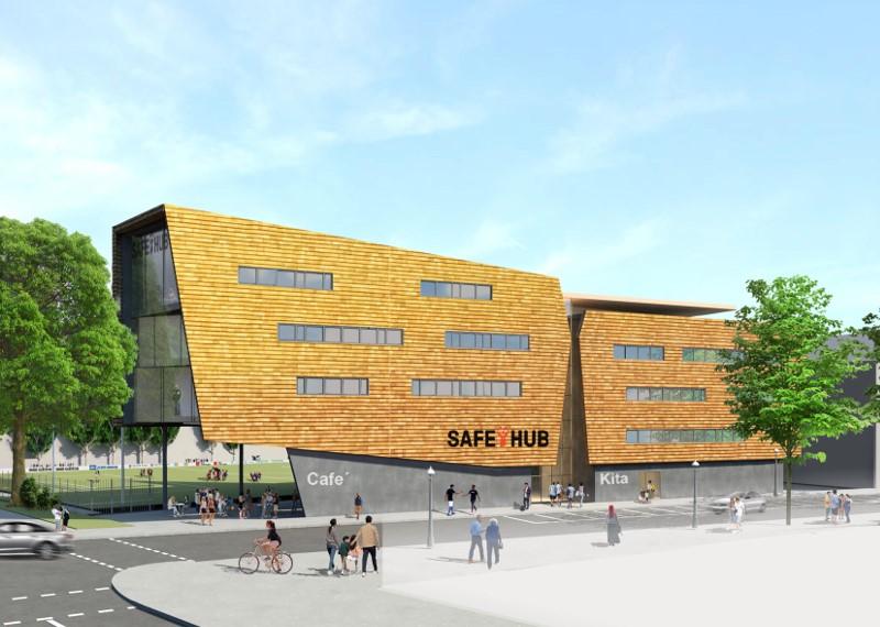 Safe-Hub-Berlin-Visualisierung-Ansicht-Fassade
